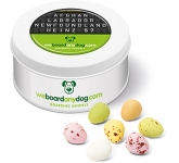 Treat Tins - Speckled Chocolate Eggs  by Gopromotional - we get your brand noticed!