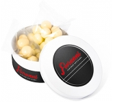 Treat Tins - White Chocolate Malt Balls  by Gopromotional - we get your brand noticed!