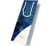 Lime Luxury Laminated Paper Wine Bag