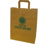 Elm A4 Tape Handled Kraft Paper Bag  by Gopromotional - we get your brand noticed!