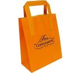 Fir A5 External Tape Handled Kraft Paper Bag  by Gopromotional - we get your brand noticed!