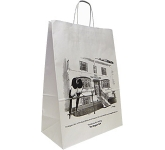 Holly Large Landscape Twist Handled Kraft Paper Bag  by Gopromotional - we get your brand noticed!