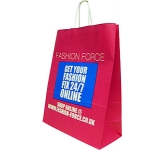 Holly Large Portrait Twist Handled Kraft Paper Bag  by Gopromotional - we get your brand noticed!