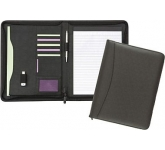Wycombe Zipped Leather Folder  by Gopromotional - we get your brand noticed!
