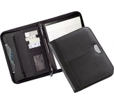 Madras A5 Zipped Leather Folder  by Gopromotional - we get your brand noticed!