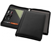 Boston Deluxe Zipped Leather Folder  by Gopromotional - we get your brand noticed!