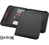 Ebony Zipped Conference Folder  by Gopromotional - we get your brand noticed!