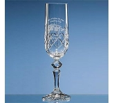 Flamenco Lead Crystal Panel Champagne Flute  by Gopromotional - we get your brand noticed!