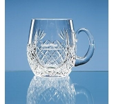 Large Lead Crystal Panel Barrel Tankard