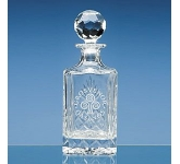 Lead Crystal Panel Square Spirit Decanter  by Gopromotional - we get your brand noticed!