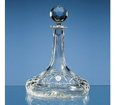 Lead Crystal Panel Ships Decanter