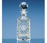 Lead Crystal Panel Round Decanter