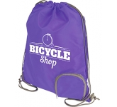 Marathon Foldable Drawstring Bag  by Gopromotional - we get your brand noticed!