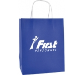 Brookvale Luxury Medium Rope Handled Paper Bag  by Gopromotional - we get your brand noticed!