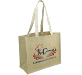 Brighton Natural Cotton Printed Jute Bag