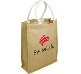 Dundee Natural Jute Bag  by Gopromotional - we get your brand noticed!