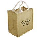 Taunton Natural Branded Jute Bag  by Gopromotional - we get your brand noticed!