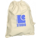 Medium Natural Cotton Drawstring Pouch