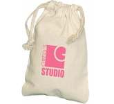 Mini Natural Cotton Drawstring Pouch  by Gopromotional - we get your brand noticed!