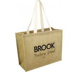 Lewes Natural Jute Bag  by Gopromotional - we get your brand noticed!
