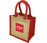 Lichfield Mini Bag For Life Jute Bag  by Gopromotional - we get your brand noticed!