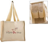 Wrexham Combo Bottle Jute Bag  by Gopromotional - we get your brand noticed!