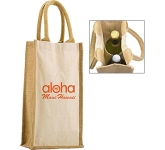 Halifax Combo Jute Bottle Bag  by Gopromotional - we get your brand noticed!