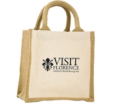 Camden Natural Cotton Jute Gift Bag  by Gopromotional - we get your brand noticed!
