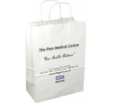 Medium Boutique Twist Handled Paper Carrier Bag  by Gopromotional - we get your brand noticed!