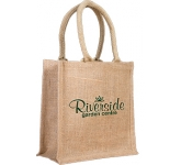 Blackthorn Extra Small Jute Gift Bag  by Gopromotional - we get your brand noticed!