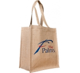 Juniper Standard Natural Printed Jute Bag  by Gopromotional - we get your brand noticed!