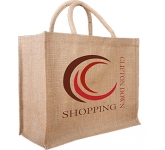 Willow Large Natural Jute Bag  by Gopromotional - we get your brand noticed!