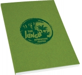 A4 Recycled Kraft Paper Perfect Bound Notepad  by Gopromotional - we get your brand noticed!