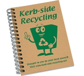 A6 Natural Recycled Spiral Bound Notepad  by Gopromotional - we get your brand noticed!