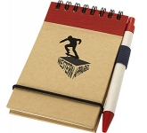 Epping Recycled Pocket Notebooks & Pen  by Gopromotional - we get your brand noticed!