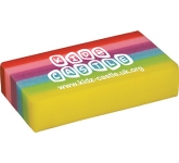 Rainbow Eraser  by Gopromotional - we get your brand noticed!