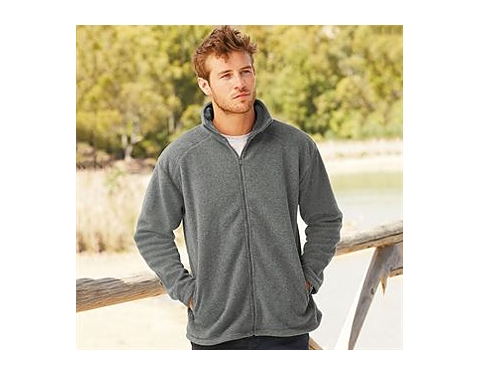 6 COLOURS FRUIT OF THE LOOM FULL ZIP FLEECE OUTDOORS HIKING