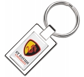 Vienna Epoxy Domed Printed Metal Keyring