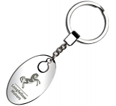 Ohio Oval Metal Keyring