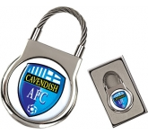 Elite ColourBrite Round Cable Metal Keyring  by Gopromotional - we get your brand noticed!