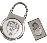 Elite Round Cable Metal Keyring  by Gopromotional - we get your brand noticed!