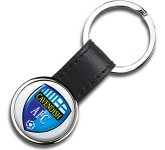 i-Zu ColourBrite Round Metal Keyring  by Gopromotional - we get your brand noticed!