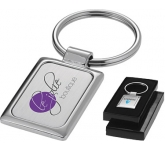 Jakarta Square Metal Keyring  by Gopromotional - we get your brand noticed!