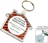 Deluxe Smart Fob House Plastic Keyring  by Gopromotional - we get your brand noticed!