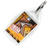 Standard Acrylic Plastic Keyring  by Gopromotional - we get your brand noticed!