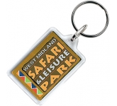 Compact Acrylic Plastic Keyring  by Gopromotional - we get your brand noticed!