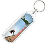 Lozenge Acrylic Plastic Keyring  by Gopromotional - we get your brand noticed!