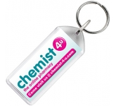 Oblong Acrylic Plastic Keyring  by Gopromotional - we get your brand noticed!