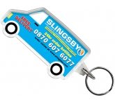 Van Shaped Acrylic Plastic Keyring  by Gopromotional - we get your brand noticed!