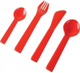 4 Piece Plastic Cutlery Set
